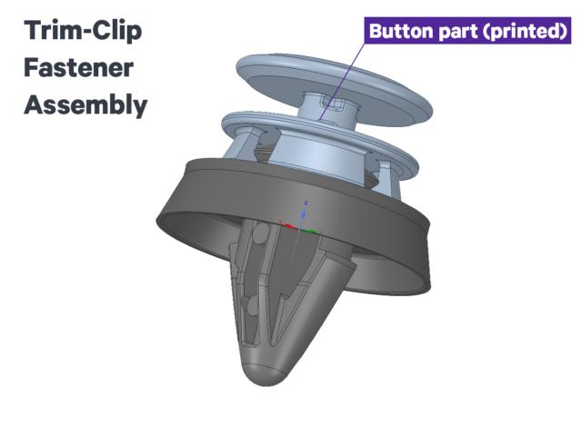 ARaymond button part of trim-clip fastener