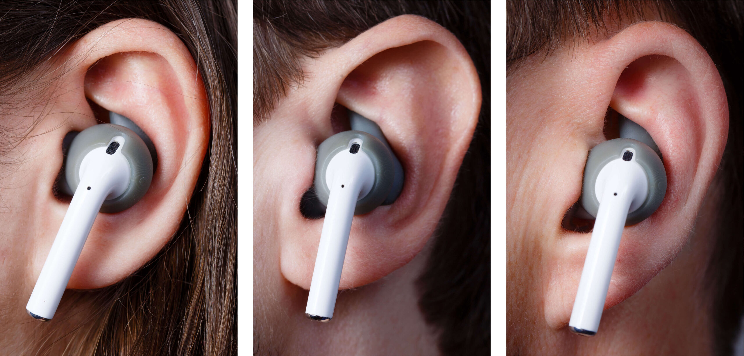 MyFit Solutions customized earbud tips placed inside ear canal