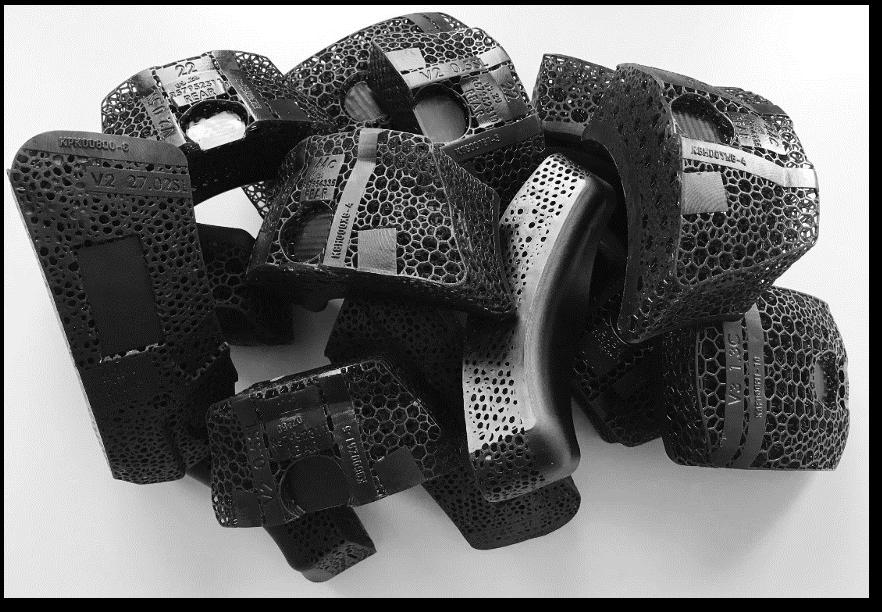 A set of Riddell Lattice Helmet Pads