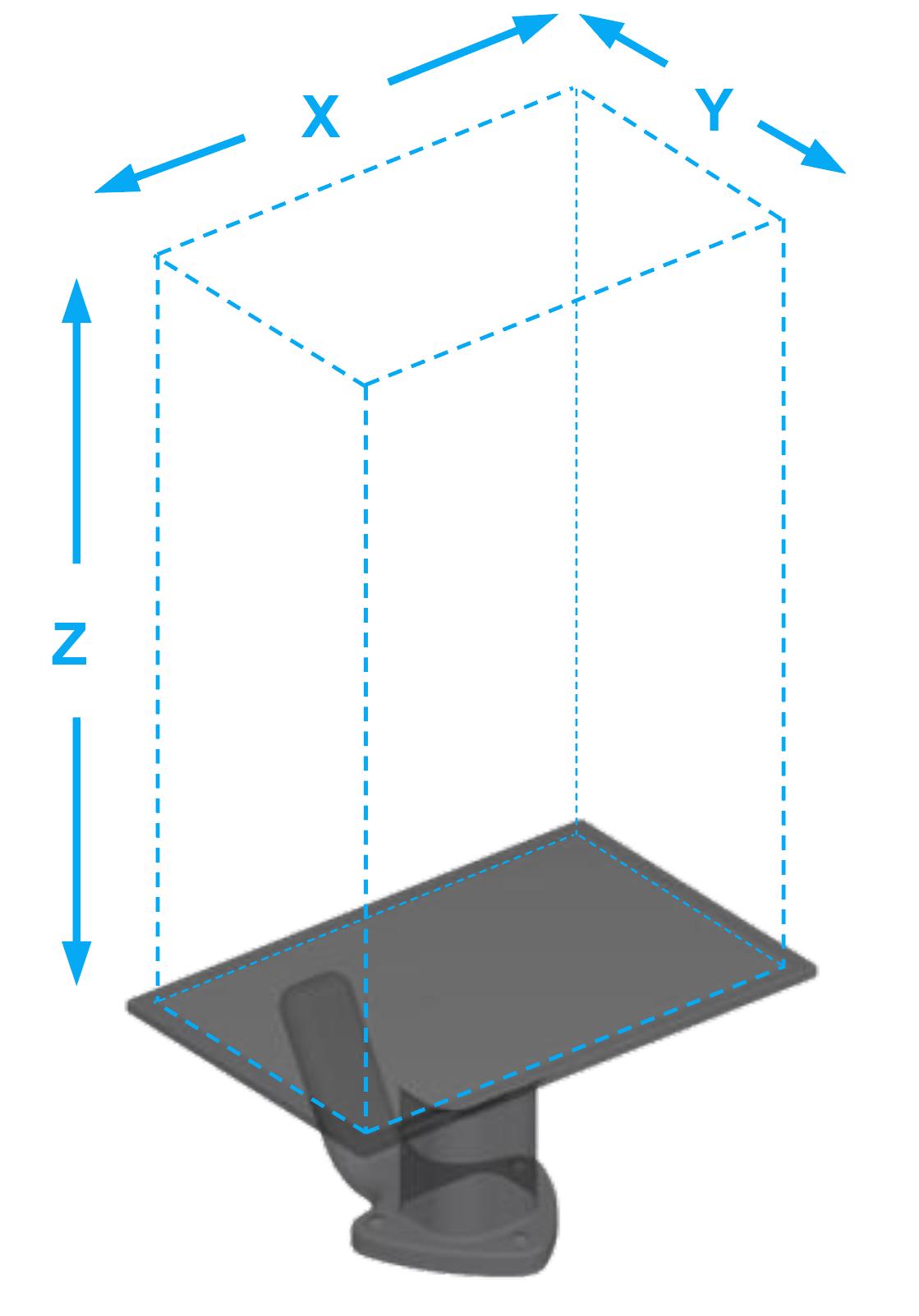 Carbon M1 M2 3D printer build volume dimensions