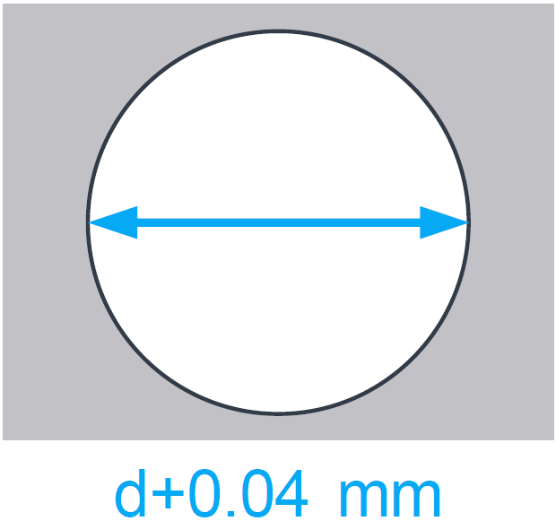 Hole dimensions for 3D printing